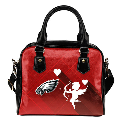 Superior Cupid Love Delightful Philadelphia Eagles Shoulder Handbags