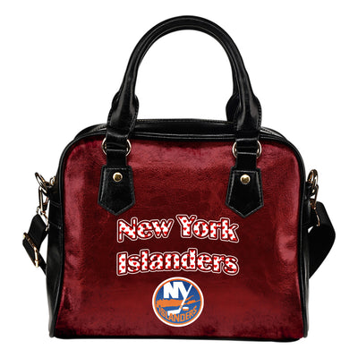 Love Icon Mix New York Islanders Logo Meaningful Shoulder Handbags