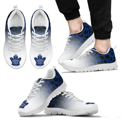 Cool Toronto Maple Leafs Sneakers Leopard Pattern Awesome