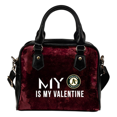 My Perfectly Love Valentine Fashion Oakland Athletics Shoulder Handbags
