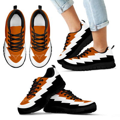 Unique Printed Texas Longhorns Sneakers Jagged Saws Creative Draw