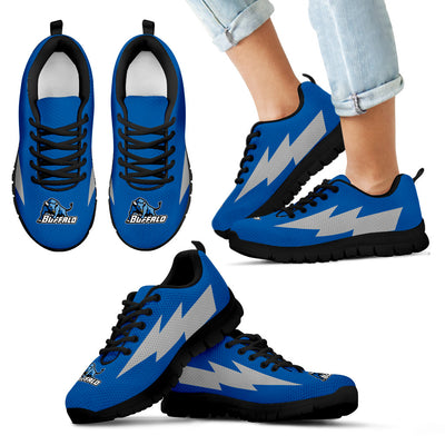 Cute Style Buffalo Bulls Sneakers Thunder Lightning Amazing Logo