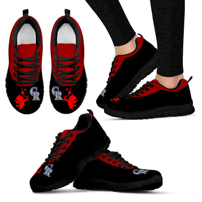 Cute Cupid Angel Background Colorado Rockies Sneakers
