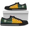 Cool Simple Design Vertical Stripes Oakland Athletics Low Top Shoes