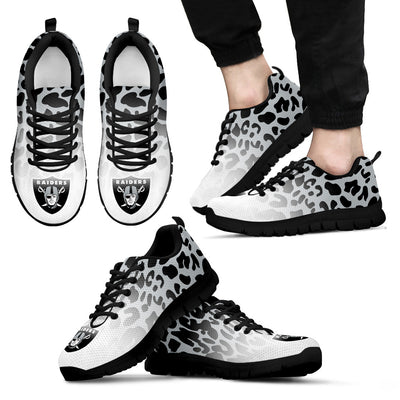 Leopard Pattern Awesome Oakland Raiders Sneakers