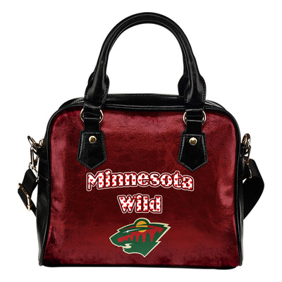 Love Icon Mix Minnesota Wild Logo Meaningful Shoulder Handbags