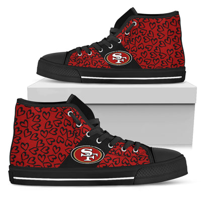 Perfect Cross Color Absolutely Nice San Francisco 49ers High Top Shoes