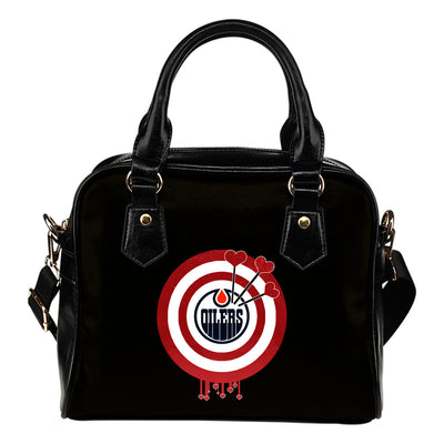 Valentine Sweet Edmonton Oilers Dart Couple Love Shoulder Handbags