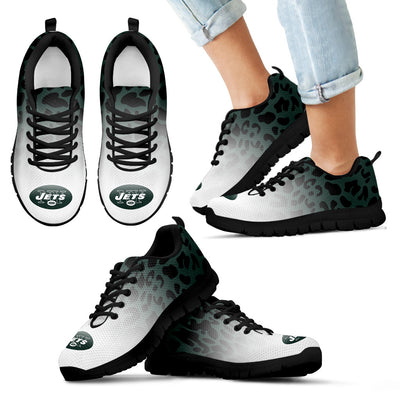 Leopard Pattern Awesome New York Jets Sneakers