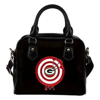 Valentine Sweet Green Bay Packers Dart Couple Love Shoulder Handbags