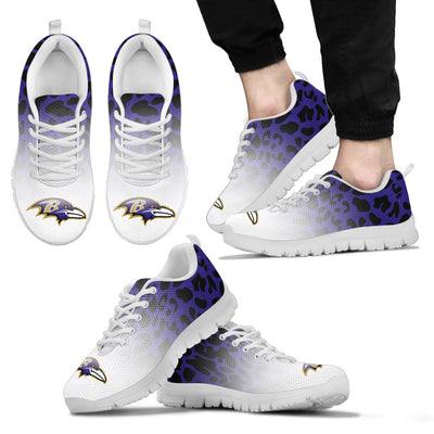 Leopard Pattern Awesome Baltimore Ravens Sneakers