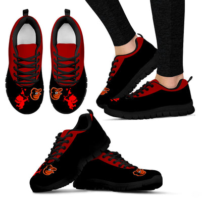 Cute Cupid Angel Background Baltimore Orioles Sneakers