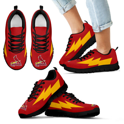 Perfect St. Louis Cardinals Sneakers Thunder Lightning Amazing Logo