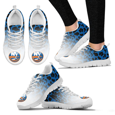 Custom Printed New York Islanders Sneakers Leopard Pattern Awesome