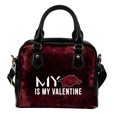My Love Valentine Fashion Arkansas Razorbacks Shoulder Handbags