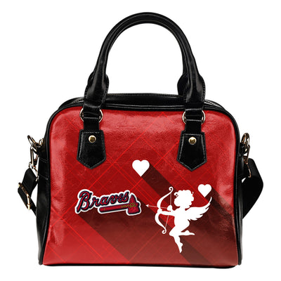 Superior Cupid Love Delightful Atlanta Braves Shoulder Handbags