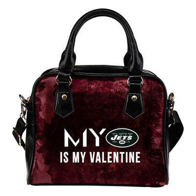 My Perfectly Love Valentine Fashion New York Jets Shoulder Handbags