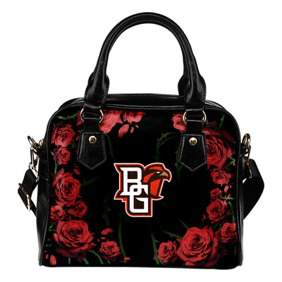 Valentine Rose With Thorns Bowling Green Falcons Shoulder Handbags