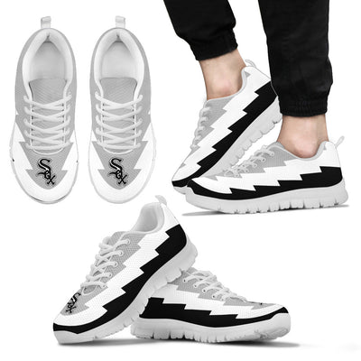 Super Lovely Chicago White Sox Sneakers Jagged Saws Creative Draw