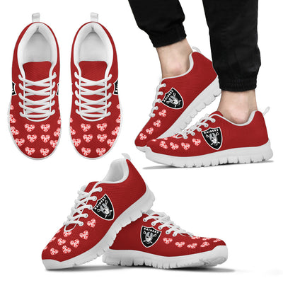 Love Extreme Emotion Pretty Logo Oakland Raiders Sneakers
