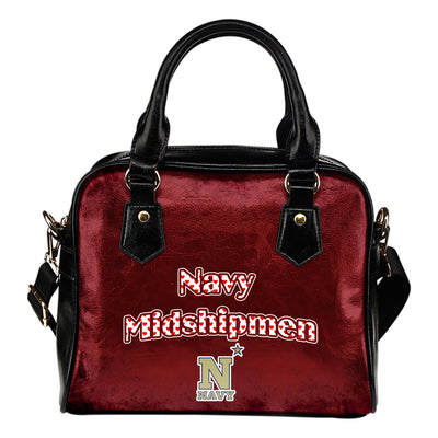 Love Icon Mix Navy Midshipmen Logo Meaningful Shoulder Handbags