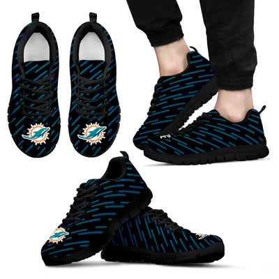 Marvelous Striped Stunning Logo Miami Dolphins Sneakers