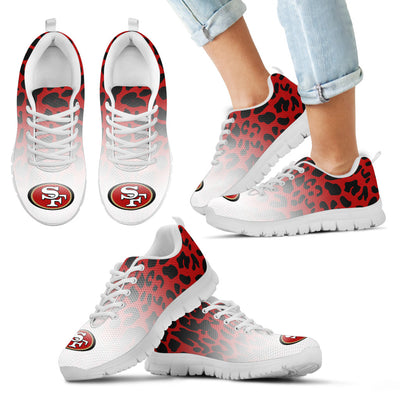 Leopard Pattern Awesome San Francisco 49ers Sneakers