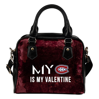 My Perfectly Valentine Fashion Montreal Canadiens Shoulder Handbags