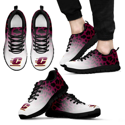 Leopard Pattern Awesome Central Michigan Chippewas Sneakers