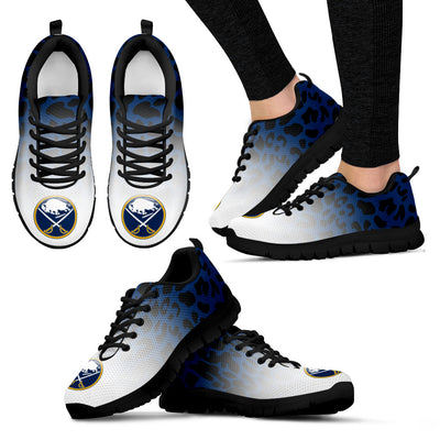 Custom Printed Buffalo Sabres Sneakers Leopard Pattern Awesome