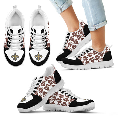 Great Football Love Frame New Orleans Saints Sneakers
