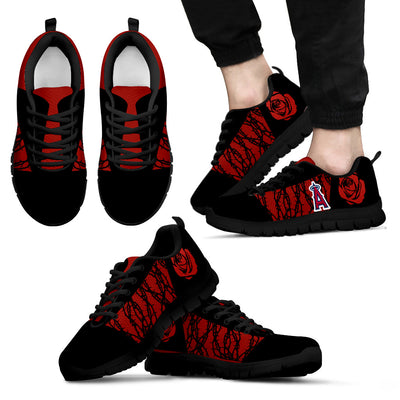 Rose Plant Gorgeous Lovely Logo Los Angeles Angels Sneakers