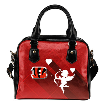 Superior Cupid Love Delightful Cincinnati Bengals Shoulder Handbags