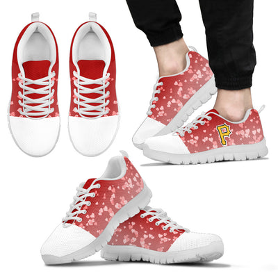 Heart Flying Valentine Sweet Logo Pittsburgh Pirates Sneakers