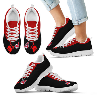 Cute Cupid Angel Background Cleveland Indians Sneakers