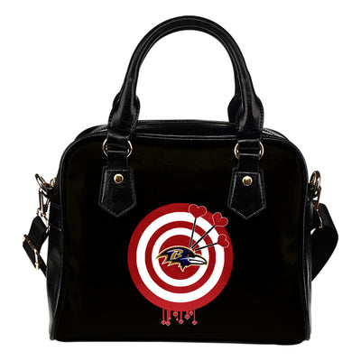 Valentine Sweet Baltimore Ravens Dart Couple Love Shoulder Handbags
