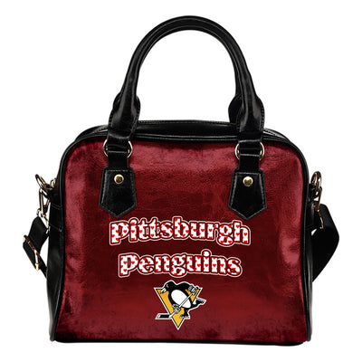 Love Icon Mix Pittsburgh Penguins Logo Meaningful Shoulder Handbags