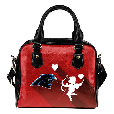 Superior Cupid Love Delightful Carolina Panthers Shoulder Handbags