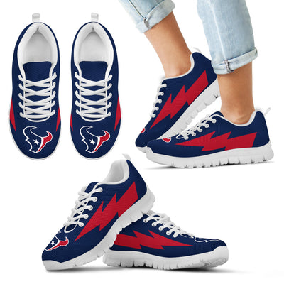 Colorful Houston Texans Sneakers Thunder Lightning Amazing Logo