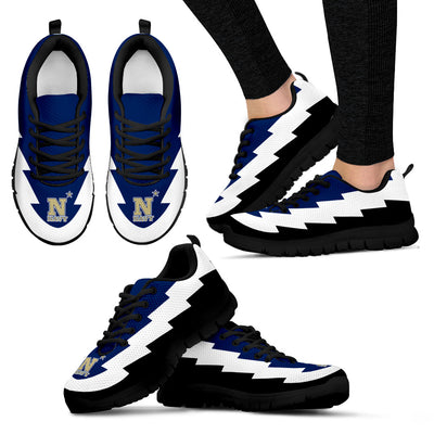 Pretty Cool Navy Midshipmen Sneakers Jagged Saws Creative Draw