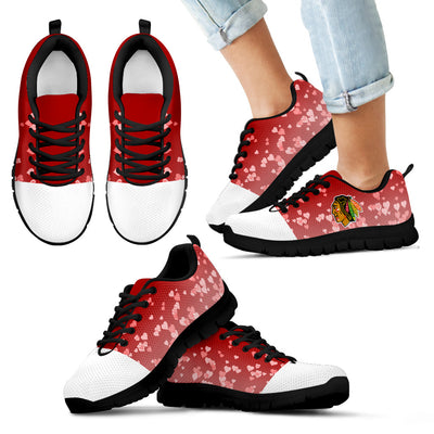 Heart Flying Valentine Sweet Logo Chicago Blackhawks Sneakers