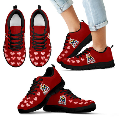 Love Extreme Emotion Pretty Logo Miami Marlins Sneakers