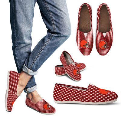 Red Valentine Cosy Atmosphere Cleveland Browns Casual Shoes