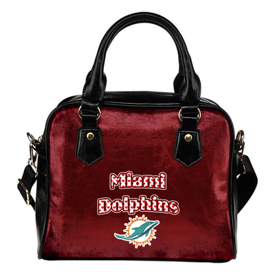 Love Icon Mix Miami Dolphins Logo Meaningful Shoulder Handbags