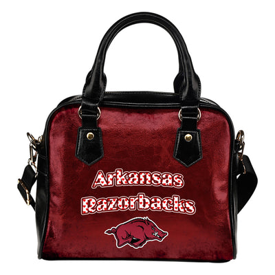 Love Icon Mix Arkansas Razorbacks Logo Meaningful Shoulder Handbags