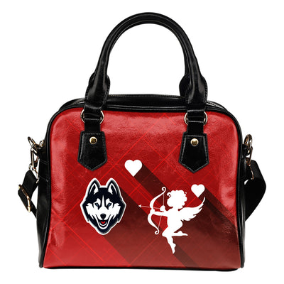 Superior Cupid Love Delightful Connecticut Huskies Shoulder Handbags