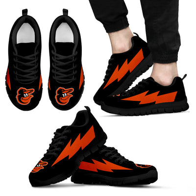 Funny Style Baltimore Orioles Sneakers Thunder Lightning Amazing Logo
