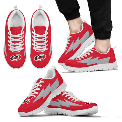 Nice Style Carolina Hurricanes Sneakers Thunder Lightning Amazing Logo