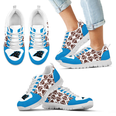 Great Football Love Frame Carolina Panthers Sneakers