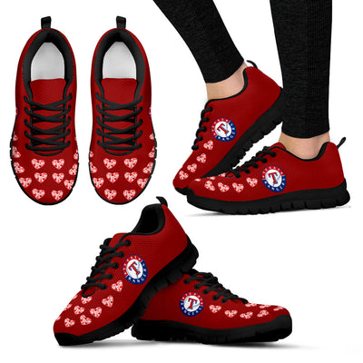Love Extreme Emotion Pretty Logo Texas Rangers Sneakers